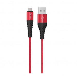 Καλώδιο Σύνδεσης Κορδόνι Hoco X38 Cool με USB σε Micro Fast Charging Κόκκινο 1μ 6931474710550