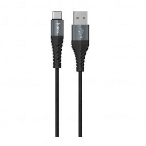 Καλώδιο Σύνδεσης Κορδόνι Hoco X38 Cool με USB σε USBC Fast Charging Μαύρο 1μ 6931474710567