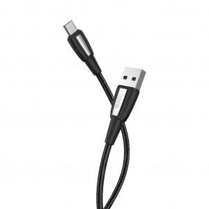 Καλώδιο σύνδεσης Κορδόνι Hoco X39 Titan USB σε Micro-USB Fast Charging 3.0A Μαύρο 1μ 6931474711304