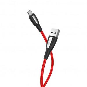 Καλώδιο σύνδεσης Κορδόνι Hoco X39 Titan USB σε Micro-USB Fast Charging 3.0A Κόκκινο 1μ 6931474711311