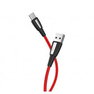 Καλώδιο σύνδεσης Κορδόνι Hoco X39 Titan USB σε Type-C Fast Charging 3.0A Κόκκινο 1μ 6931474711335