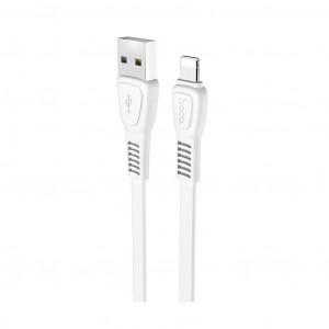 Καλώδιο σύνδεσης Hoco X40 Noah USB σε Lightning Fast Charging 2.4A Λευκό 1μ 6931474711663