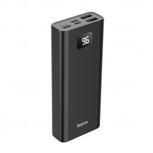 Power Bank Hoco J46 Star Ocean 10000mAh Type-C, Micro USB & Lightning Input και 2 USB Output Fast Charging και ένδειξη LED Μαύρο 6931474711724