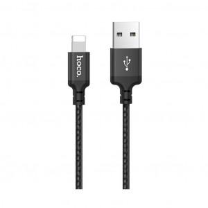 Καλώδιο σύνδεσης Hoco X14 Times Speed USB σε Lightning 2.4A Μαύρο 1m σε πλαστική συσκευασία 6931474712707
