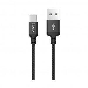 Καλώδιο σύνδεσης Hoco X14 Times Speed USB σε Type-C Fast Charging 3.0A Μαύρο 1m σε πλαστική συσκευασία 6931474712721
