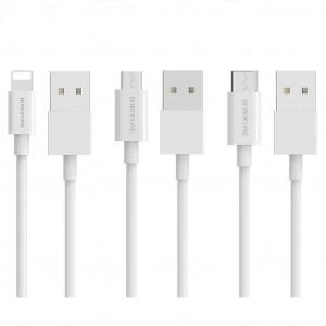 Σετ Καλωδίων Σύνδεσης Borofone BX3 Skilled Combination Set USB σε Micro-USB, Lightning, USB-C έως 3.0A 1.0μ 30 Τεμαχίων και δώρο το Stand 6931474712776