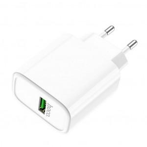Φορτιστής Ταξιδίου Hoco C69A Dynamic Power Single USB QC3.0 22.5W Λευκός 6931474712875