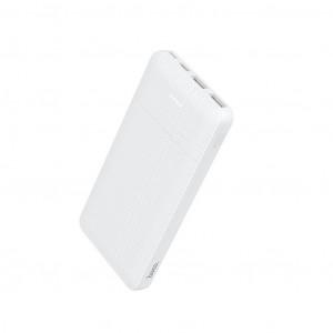 Power Bank Hoco J48 Nimble 10000mAh Type-C & Micro Input και 2 USB 5V/2A Output Fast Charging και ένδειξη LED Λευκό 6931474714152