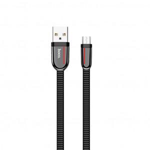 Καλώδιο σύνδεσης Κορδόνι Hoco U74 Grand USB σε Micro USB Fast Charging 2.4A 1.2μ Μαύρο 6931474715098