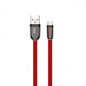 Καλώδιο σύνδεσης Κορδόνι Hoco U74 Grand USB σε Micro USB Fast Charging 2.4A 1.2μ Κόκκινο 6931474715104