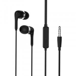 Hands Free Borofone BM39 Refined chant Stereo 3.5 mm Μαύρα με Μικρόφωνο και Πλήκτρο Λειτουργίας 1.2m 6931474716873
