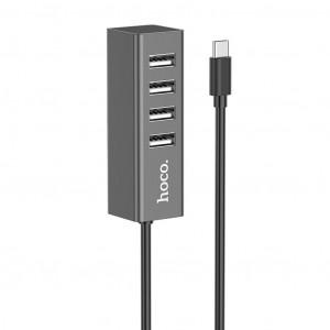 USB-C Hub Hoco HB1 4 Θέσεων USB Γρκί 6931474717917