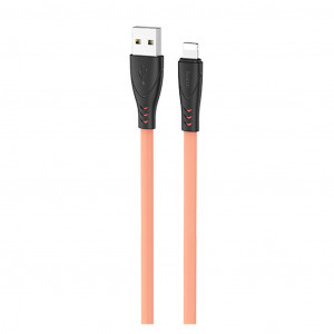 Καλώδιο σύνδεσης Hoco X42 USB σε Lightning 2.4A Fast Charging με Ανθεκτική Σιλικόνη 1μ. Κίτρινο 6931474719195