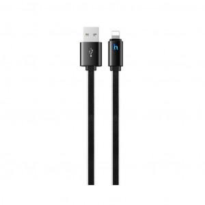 Καλώδιο σύνδεσης Hoco UPL 12 Plus USB σε Lightning 2.4A με PVC Jelly και Φωτεινή Ένδειξη 1,2μ. Μαύρο 6931474720016