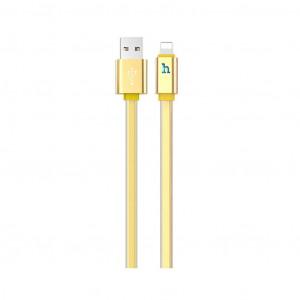 Καλώδιο σύνδεσης Hoco UPL 12 Plus USB σε Lightning 2.4A με PVC Jelly και Φωτεινή Ένδειξη 1,2μ. Χρυσαφί 6931474720023