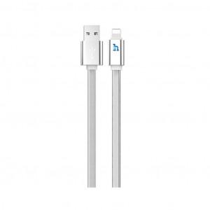 Καλώδιο σύνδεσης Hoco UPL 12 Plus USB σε Lightning 2.4A με PVC Jelly και Φωτεινή Ένδειξη 1,2μ. Ασημί 6931474720030