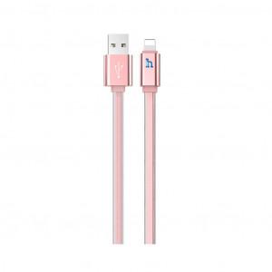 Καλώδιο σύνδεσης Hoco UPL 12 Plus USB σε Lightning 2.4A με PVC Jelly και Φωτεινή Ένδειξη 1,2μ. Ροζ Χρυσό 6931474720047
