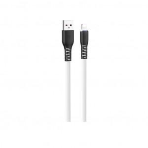 Καλώδιο σύνδεσης Hoco X44 Soft Silicone USB σε Lightning 2.4A με Ανθεκτική Σιλικόνη και Φωτεινή Ένδειξη 1μ. Λευκό 6931474722591