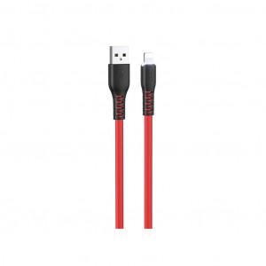 Καλώδιο σύνδεσης Hoco X44 Soft Silicone USB σε Lightning 2.4A με Ανθεκτική Σιλικόνη και Φωτεινή Ένδειξη 1μ. Κόκκινο 6931474722607
