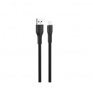 Καλώδιο σύνδεσης Hoco X44 Soft Silicone USB σε Micro-USB 2.4A με Ανθεκτική Σιλικόνη και Φωτεινή Ένδειξη 1μ. Μαύρο 6931474722614