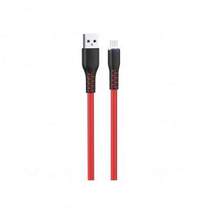 Καλώδιο σύνδεσης Hoco X44 Soft Silicone USB σε Micro-USB 2.4A με Ανθεκτική Σιλικόνη και Φωτεινή Ένδειξη 1μ. Κόκκινο 6931474722638