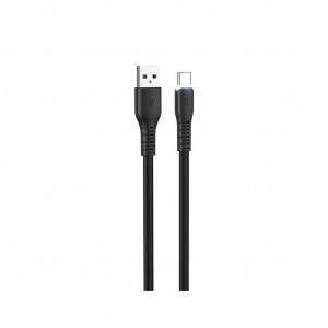 Καλώδιο σύνδεσης Hoco X44 Soft Silicone USB σε Type-C 3.0A με Ανθεκτική Σιλικόνη και Φωτεινή Ένδειξη 1μ. Μαύρο 6931474722645