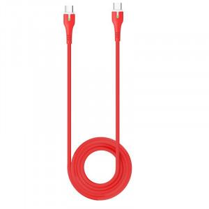Καλώδιο σύνδεσης Hoco X45 Surplus USB-C σε USB-C 3.0A με Ένδειξη LED για φόρτιση και μεταφορά δεδομένων 1.8μ. Κόκκινο 6931474725622