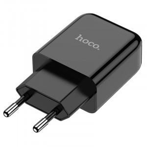 Φορτιστής Ταξιδίου Hoco N2 Vigour με USB 5V 2.0A Μαύρο 6931474728807