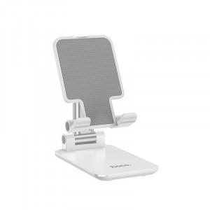 Βάση Στήριξης Επιτραπέζια Hoco PH29 Matey για συσκευές 4.7-13 Λευκή 6931474730602
