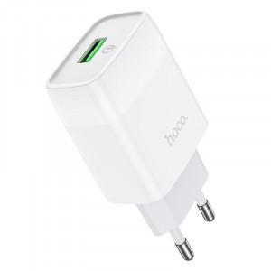 Φορτιστής Ταξιδίου Hoco C72Q Glorious USB QC3.0A 18W Λευκός 6931474732514