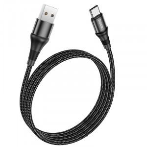 Καλώδιο σύνδεσης Hoco X50 Exquisito USB-C σε USB-C 5.0A 100W 20V 2μ. Μαύρο 6931474734402