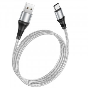 Καλώδιο σύνδεσης Hoco X50 Exquisito USB-C σε USB-C 5.0A 100W 20V 2μ. Γκρι 6931474734419