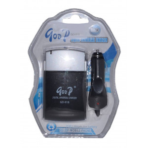 Battery Charger Goop Universal GD-917 Traverl and Car, for Cameras and Mobile Phone 6931704105071