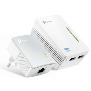 Powerline TP-Link AV500 WiFi Kit TL-WPA4220 KIT 300 Mbps WiFi & 500 Mbps Powerline Set 2 Pieces 6935364032258