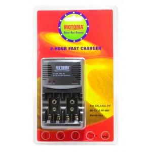 Φορτιστής Μπαταριών Motoma Super Fast Charger Universal BC-2081 Ταξιδίου για AA, AAA, 9V 6935609920814