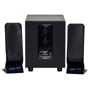 Ηχείο Stereo Muvgd M-606 2.1 2.5Wx2+6W RMS Μαύρο με Τροφοδοσία Πρίζας 20x7x6cm 69400292104141