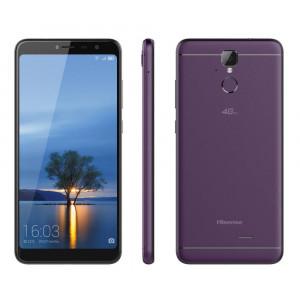 Hisense F24 Infinity 4G LTE (Dual SIM) 5.99 Android 7.0 1440*720 HD+ 2GB/16GB Μώβ με Θήκη & Tempered Glass 6941785710576