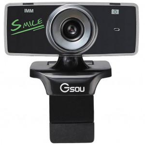 USB Webcam Gsou B18s 1.3 MP Μαύρη 6950854500048