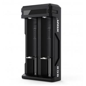 Φορτιστής Μπαταριών Βιομηχανικού Τύπου Xtar SC2 USB, 2 Θέσεων 3A με Ένδειξη Επιπέδου Φόρτισης 6952918341390