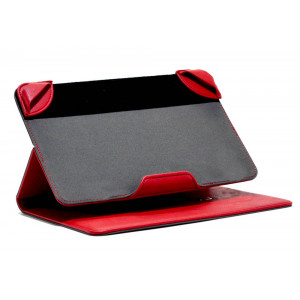 Book Case Lamborghini Universal for Tablet 7 - 8 Inches Red Leather (21 cm x 13 cm) 6955250279529