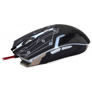 Wired Mouse R-horse RH-1990 Robocop Series 5 Button 3200 DPI Black - Grey (120*70*35mm) 6955727790274