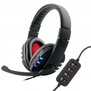Ακουστικά Stereo KOMC USB Flash KM-9700 Μαύρα 6956398301189