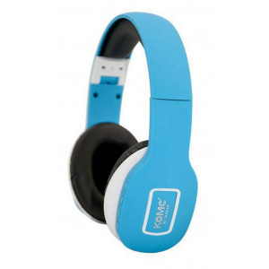 Bluetooth Ακουστικά Stereo Foldable Komc KM-6300 Ανοιχτό Μπλε με Μικρόφωνο και Υποδοχή Audio In 6956398302094