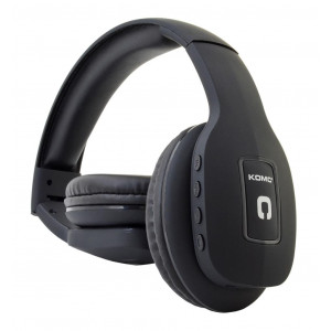 Bluetooth Ακουστικά Stereo Foldable Komc T11 Μαύρα με Μικρόφωνο και Υποδοχή Audio In 6956398302377