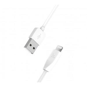 Καλώδιο σύνδεσης Hoco X1 για iPhone/iPad/iPod Lightning 1.0 μ. Λευκό 6957531032007