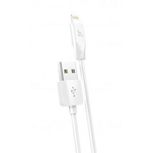 Καλώδιο σύνδεσης Hoco X1 USB σε Lightning Fast Charging Λευκό 2m 6957531032014