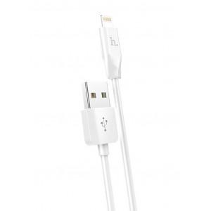 Καλώδιο σύνδεσης Hoco X1 USB σε Lightning Fast Charging Λευκό 3m 6957531032021