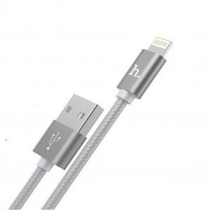 Καλώδιο σύνδεσης Hoco X2 Knitted USB σε Lightning Fast Charging Ασημί 1,0 μ. 6957531032168