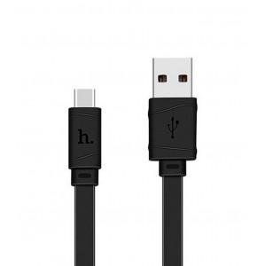 Καλώδιο σύνδεσης Hoco X5 Bamboo USB σε Type-C Μαύρο 1,0 μ. 6957531042693