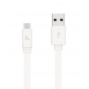 Καλώδιο σύνδεσης Hoco X5 Bamboo USB σε Type-C Λευκό 1,0 μ. 6957531042709